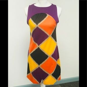 NWT Slimming Bold Block Spring Dress
